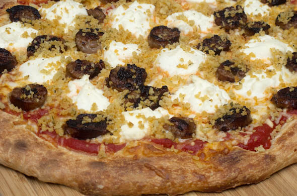 The Three Bite Rule - Sausage & Ricotta Pizza