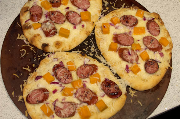 The Three Bite Rule - Kielbasa & Sweet Potato Pizza
