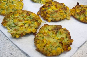 The Three Bite Rule - Corn & Zucchini Fritters