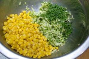 The Three Bite Rule - Corn & Zucchini Fritters