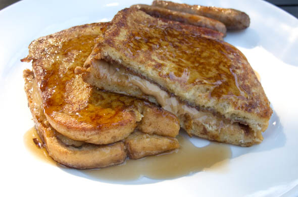 The Three Bite Rule - PB Nutella French Toast