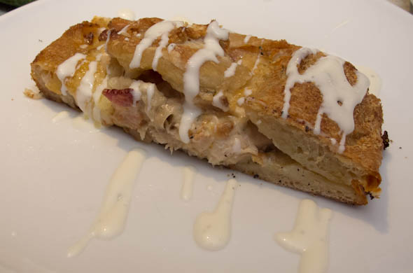 The Three Bite Rule - Chicken Bacon Ranch Calzone