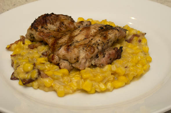 Maple Bacon Creamed Corn - The Three Bite Rule