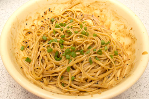 The Three Bite Rule - Peanut Sesame Noodles