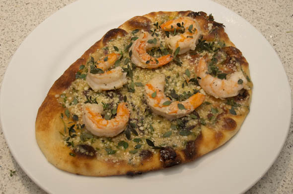 The Three Bite Rule - Shrimp Scampi Flatbread