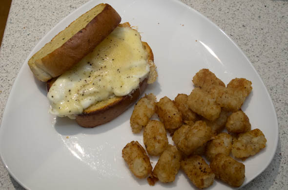 The Three Bite Rule - Texas Toast Breakfast Sandwich