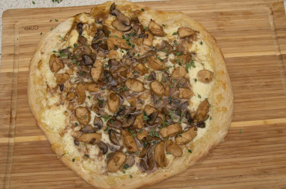 The Three Bite Rule - Chicken Marsala Pizza