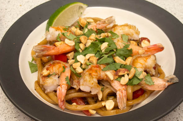 Shrimp Pad Thai - The Three Bite Rule