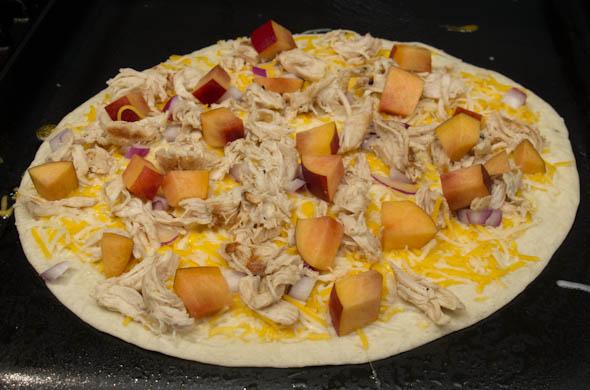 The Three Bite Rule - Chicken, Peach & Cheese Quesadilla