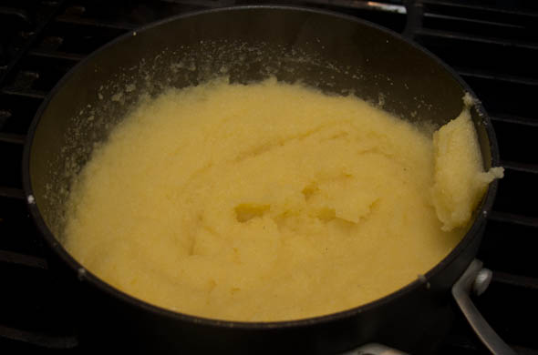 The Three Bite Rule - Easy Cheesy Polenta