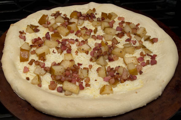 The Three Bite Rule - Pear & Pancetta Pizza