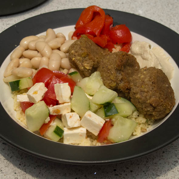 The Three Bite Rule - Falafel Bowl
