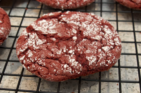 The Three Bite Rule - Red Velvet Crinkle Cookies