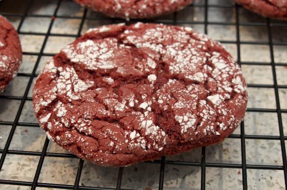 The Three Bite Rule - Red Velvet Crinkle Cookies