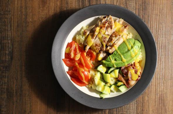 The Three Bite Rule - Rice Pilaf & Honey Mustard Grain Bowl