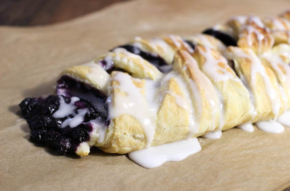 The Three Bite Rule - Blueberry & Cream Cheese Breakfast Pastry