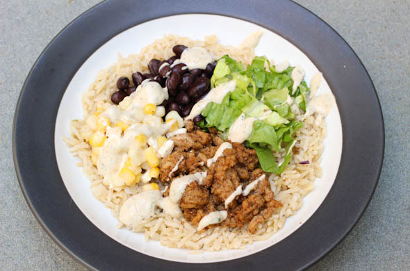 The Three Bite Rule - Burrito Bowl