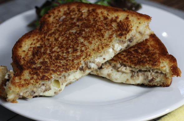 The Three Bite Rule - Tuffle Mushroom Grilled Cheese