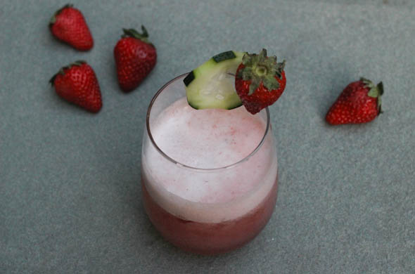 The Three Bite Rule - Strawberry Cucumber Cocktail