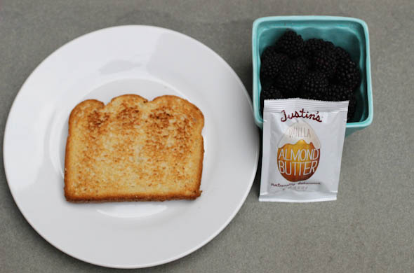 The Three Bite Rule - PB & Blackberry Toast