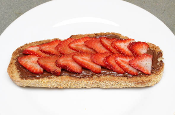 The Three Bite Rule - Strawberry Nutella Toast