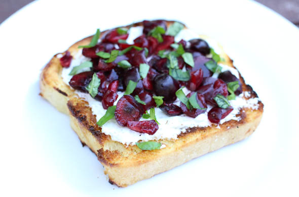 The Three Bite Rule - Cherry Basil Toast