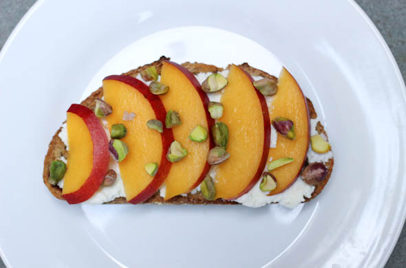 The Three Bite Rule - Peach Pistachio Toast