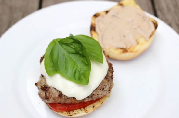 The Three Bite Rule - Caprese Burger