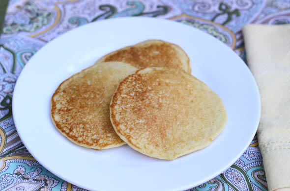 The Three Bite Rule - Peach Cornmeal Pancakes