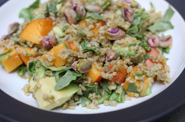 The Three Bite Rule - Peach, Avocado & Grain Salad