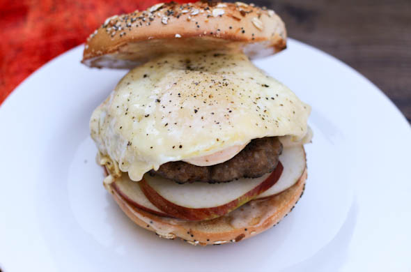 The Three Bite Rule - Maple Sausage & Apple Breakfast Sandwich