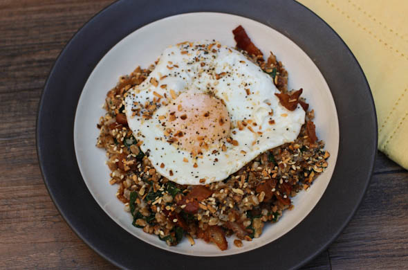 The Three Bite Rule - Farro Breakfast Bowl