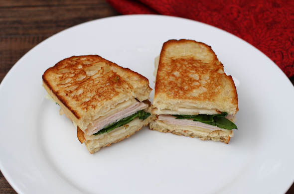 The Three Bite Rule - Turkey & Pear Grilled Cheese