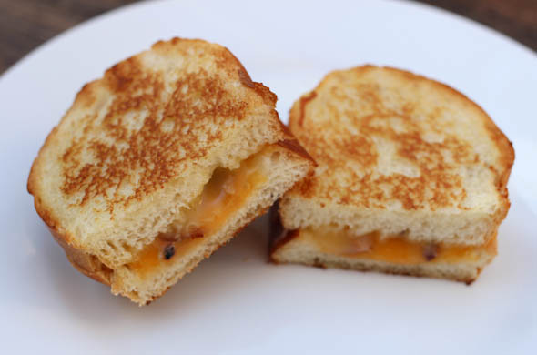 The Three Bite Rule - Pancetta & Truffle Butter Grilled Cheese