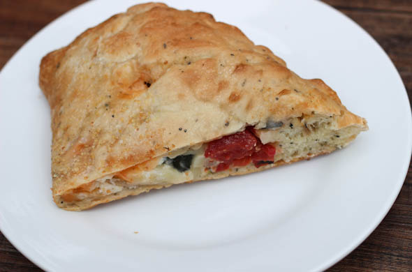 The Three Bite Rule - Fire Roasted Veggie Calzone