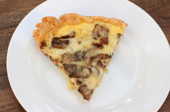 The Three Bite Rule - Mushroom & Sun Dried Tomato Quiche