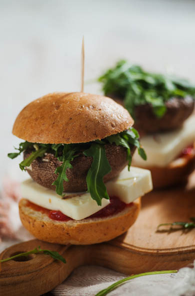 The Three Bite Rule - Guest Post Portobello & Halloumi Burgers