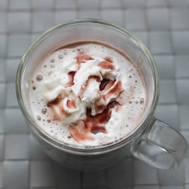 The Three Bite Rule - Hot Chocolate w/ Raspberry & White Chocolate