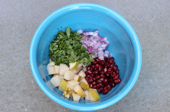 The Three Bite Rule - Pomegranate Pear Salsa