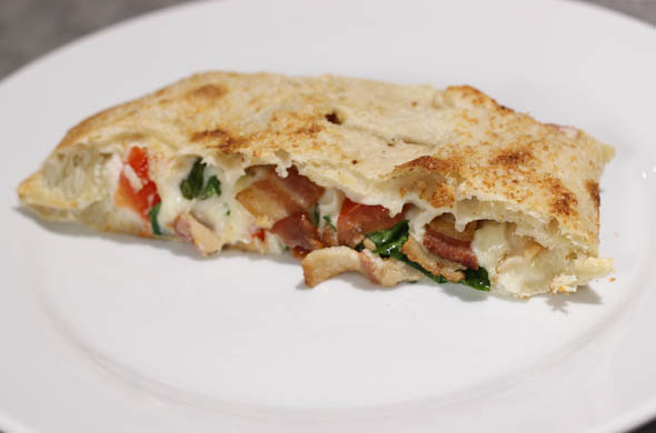The Three Bite Rule - BLT Calzone
