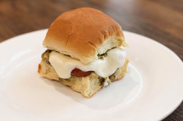 The Three Bite Rule - Caprese Slider