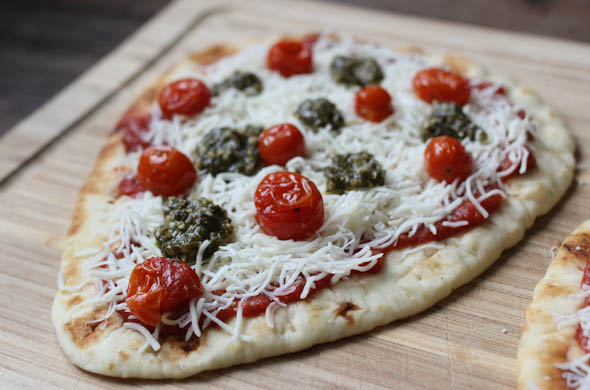The Three Bite Rule - Pesto Flatbread