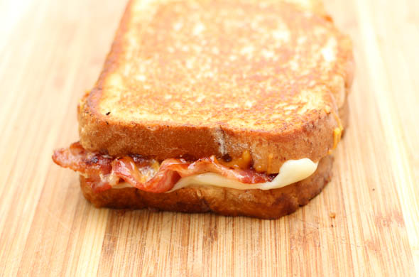The Three Bite Rule - Maple Bacon Grilled Cheese