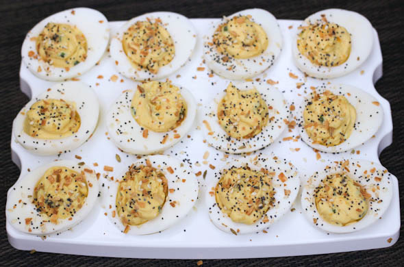 The Three Bite Rule - Breakfast Deviled Eggs