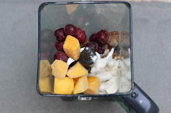 The Three Bite Rule - Cherry Mango Smoothie