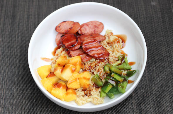 Kielbasa Grain Bowl - The Three Bite Rule