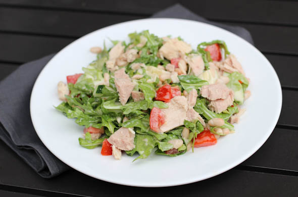 The Three Bite Rule - Tuna & White Bean Protein Salad