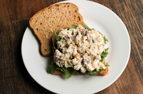 The Three Bite Rule - Cranberry Walnut Chicken Salad