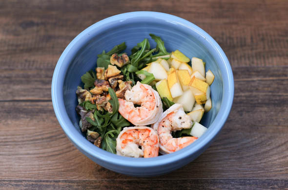 The Three Bite Rule - Winter Salad with Arugula & Shrimp