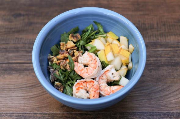 The Three Bite Rule - Winter Salad with Arugula & Shrimp